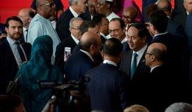 Franse voorzitter Francois Hollande bij de 16de Francophonie-Top in Antananarivo Royalty-vrije Stock Foto's