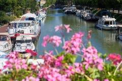 Franse waterweg stock fotografie