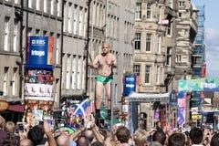 Fransfestival edinburgh Royaltyfri Bild