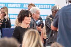 Fransk aktris Clotilde Hesme på den röda mattan på den 43rd Deauville amerikanfilmfestivalen Royaltyfri Foto