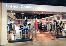 Fransk anslutning shoppar i Hong Kong Royaltyfri Bild