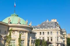 Fransk arkitektur i Paris Fotografering för Bildbyråer