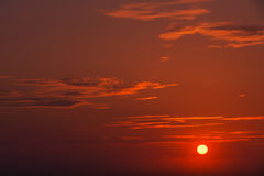 Fransk atlantisk solnedgång 2 Arkivbilder