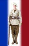 Fransk bergsoldat med en enhetlig 40-tal Royaltyfri Bild