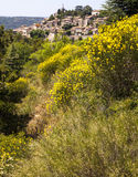 Fransk bergstoppstad Arkivbild