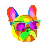Fransk bulldogg Tryck på kläder gullig valp Fransk bulldogg han royaltyfri illustrationer