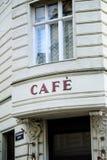 Fransk cafe i Wien Fotografering för Bildbyråer
