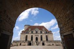 Fransk chateau Arkivfoto