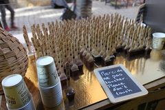 Fransk choklad shoppar i Lyon Royaltyfria Bilder