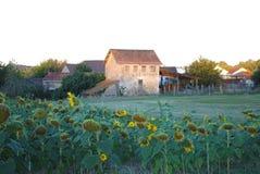 Fransk d'Estissac för bySt Severin, Dordogne Royaltyfri Fotografi