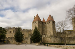 Fransk destination, Carcassonne Royaltyfria Bilder