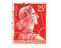 fransk gammal röd stämpel arkivfoto