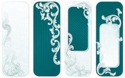fransk grön retro vertical för baner Royaltyfri Foto