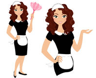 Fransk hembiträdeuppsättning royaltyfri illustrationer