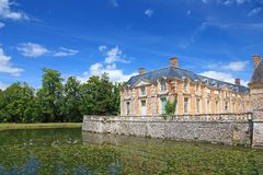 fransk herrgård Arkivbild