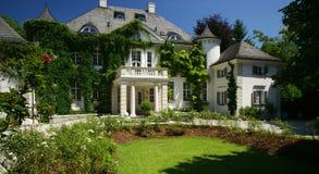 fransk herrgård royaltyfri fotografi
