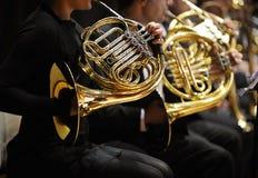 fransk horn Arkivbild