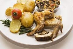 Fransk julienne med bakade varma fega vingar för potatisar Royaltyfria Foton