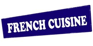 Fransk kokkonst royaltyfri illustrationer
