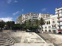 Fransk kolonial sida av staden av Algiers Algeriet Modern stad många gamla franska typbyggnader Arkivbilder