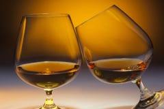 Fransk konjak - Cognac Arkivbild
