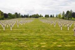 Fransk kyrkogård i Champagne-Ardenne Royaltyfria Bilder