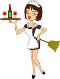 fransk maid Royaltyfria Bilder