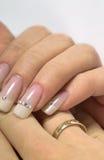 fransk manicure Royaltyfri Foto