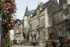 fransk medeltida by Royaltyfri Fotografi