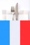 fransk menyrestaurang för kokkonst arkivfoto