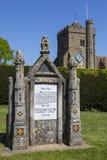 Fransk monument som gör till kung Harold II Arkivbild