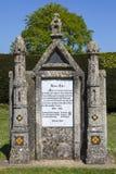 Fransk monument som gör till kung Harold II Royaltyfria Bilder