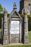 Fransk monument som gör till kung Harold II Fotografering för Bildbyråer