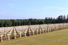 Fransk nationell kyrkogård på Thiaumont Ridge nära Verdun Fotografering för Bildbyråer