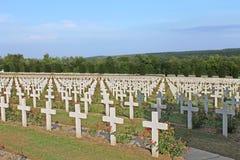 Fransk nationell kyrkogård på Thiaumont Ridge nära Verdun Royaltyfri Fotografi