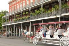 fransk New Orleans fjärdedel Arkivbilder