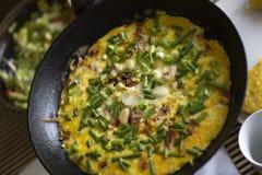 fransk omelett Royaltyfria Bilder