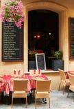 fransk provence restauranggata Arkivbild