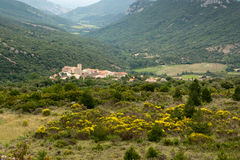 fransk pyrenees liten stad Royaltyfri Foto