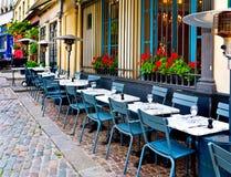 fransk restaurang Royaltyfria Bilder