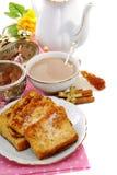 fransk rostat bröd för frukost Arkivbild