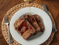 fransk rostat bröd för frukost Arkivfoto