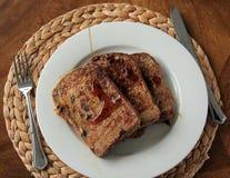 fransk rostat bröd för frukost Royaltyfria Bilder