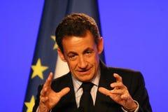 fransk sarkozy nicolas president s arkivfoto