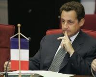 fransk sarkozy nicolas presidentrepublik Arkivbild
