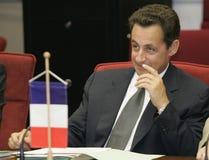 fransk sarkozy nicolas presidentrepublik Arkivbilder
