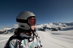 fransk skidåkning för alpsbarn Fotografering för Bildbyråer