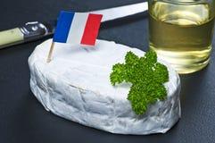 Fransk slapp ost Fotografering för Bildbyråer