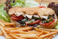 fransk småfisksmörgås Arkivfoton