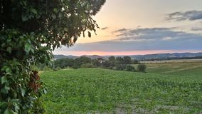 fransk solnedgång Royaltyfri Foto